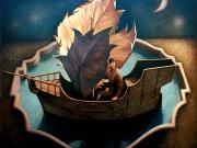 La nave del vagabondo (olio su tela cm. 90x100)