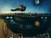 La Porte Cyrano-Francia (olio su tavola cm.90x100)1992
