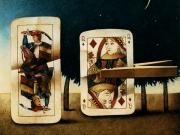 La regina rapita-Gran Bretagna (olio su tavola cm.90x100) 1992