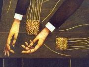 Il cestaio cieco (olio su tela cm.60x50)