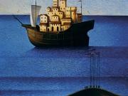 Il paesaggio (olio su tela cm.80x70)