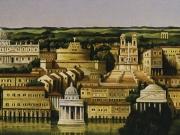 La Citta' (olio su tela cm.50x100)