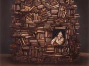 Il signore dei libri (olio su tavola cm. 60x55)