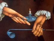 Le mani (olio su tavola cm. 30x50)