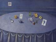 Tavolo di S.E. (olio su tela cm.60x90)