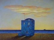 La casa del marinaio( olio su tela cm.35x40)