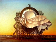 La fabbrica del tempo  (olio su tela cm.50x60)