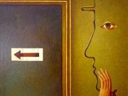 Occhio allo specchio (olio su tela cm.45x50)