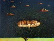 Paesaggi inattesi (olio su tela cm.30x30)