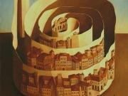 La Citta' di Cartiglia (olio su tela cm.70x60)