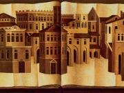 Libro delle Citta' (olio su tela cm.45x100 dittico)