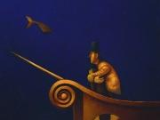 Il sogno del Capitano-L'attesa (olio su tela cm.45x50)