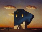 La casa della notte(olio su tela cm. 35x40)
