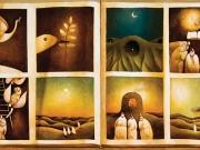 Storia di San Bernardo (olio su tela cm.50x90-dittico) Collez.Contrada della Civetta