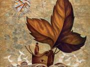 La Nave del Vagabondo (olio e oro su tavola di betulla cm.90x80)