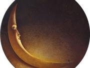 La luna dei poeti (olio e tm su tavola cm.100)