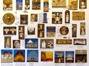 Diario (olio,tempere,bitume e oro su tela cm.120x150)