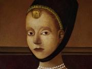 Ritratto di principessa (olio e tempere  su tavola cm.40x35)