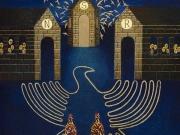 Tre Templi (olio e oro su tela cm.60x50)