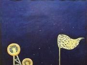 Il collezionista di stelle (olio e tempera  su tela cm 30x30)