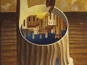 Il sogno del vagabondo (olio e foglia d'oro su tela cm.60x40) 1