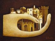 La Citta' ritrovata (olio su tavola cm.18x24)