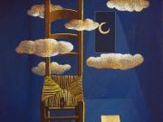 La Stanza della Notte (olio e oro su tela cm.40x35)