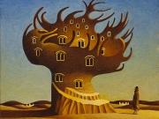 La citta' di Acchiappacitrulli (olio su tavola cm.35x40)