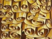 Mare di carte (olio e tempere su tavola cm.24x18)