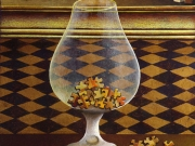 Puzzle (olio e tempere su foglia d'oro su tavola cm 40x35)