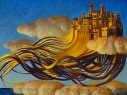 Citta' del cielo (olio su tela cm.50x60)