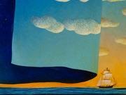 Voltare pagina- il nuovo giorno (olio su tavola cm.50x60)