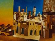 Voltare pagina (olio e foglia d' oro su tavola cm.40x35)