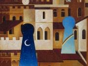 Città di Segreti (olio su tavola, cm. 40x35)