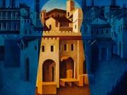 Città e segreti (olio su tela cm. 60x70)