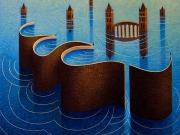 I pescatori di città (olio su tela 60x 70cm.)