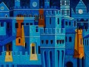 La Città e i segreti(tempere e olio su tavola cm.40x50)