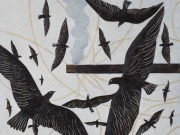 Canti del Nord (bitume e olio su tela cm.60x70)
