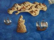 Il Monaco (tempere e olio su tav.cm.50x60) stato 3