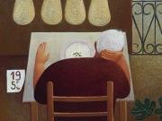 Miricordo-Io,il vecchio e il mare (olio su tavola cm.60x50)