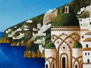 Amalfitana (olio su tavola, cm. 20x30)