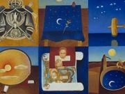 Appunti sul Piccolo Principe (olio su tavola, cm. 40x90)