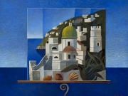 Cartolina (olio su tav., cm. 40x50)