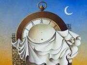 La fabbrica del Tempo (olio su tela, cm. 90x100)