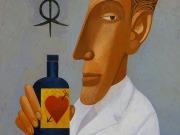 Il farmacista (tempere e olio su tavola cm.30x20)