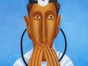 Il medico sensibile (tempere e olio su tavola cm.30x20)