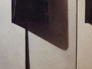 Una nota da un soldo (olio su tavola cm.80x40)