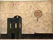 La Casa del Marinaio (bitume,tempera,olio su carta cm.56x76)