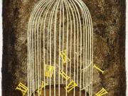 Scappano (bitume,olio e tempera su carta cm.50x35)