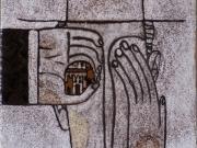La Citta' ritrovata (cuerda seca-smalti ceramici; cm.15x15)